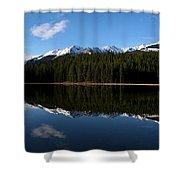 Reflection Bay - Jasper, Alberta - Panorama Shower Curtain