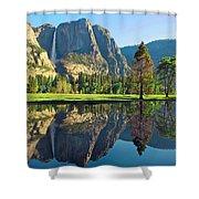 Reflections Of Yosemite Falls Shower Curtain