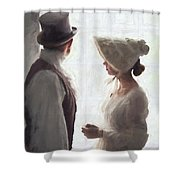 Regency Period Couple At The Window Shower Curtain
