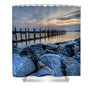 Rehoboth Bay Sunset Shower Curtain
