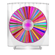 Colorful Signature Art Chakra Round Mandala By Navinjoshi At Fineartamerica.com Rare Fineart Images  Shower Curtain by Navin Joshi