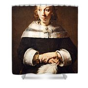 Rembrandt's Portrait Of A Lady With An Ostrich Feather Fan Shower Curtain