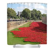 Remembrance Poppies At Tower Of London Shower Curtain