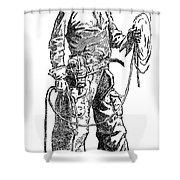 Remington Cowboy, 1887 Shower Curtain