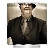 Reminiscing Days Bygone  Shower Curtain