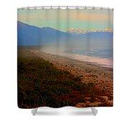 Remote New Zealand Beach Shower Curtain
