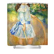 Renoir's Girl With A Hoop Shower Curtain