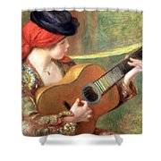 Renoir's Young Spanish Woman With A Guitar Shower Curtain
