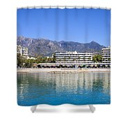 Resort City Of Marbella In Spain Shower Curtain