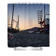 Resting Boats Shower Curtain