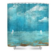 Restless Waters Shower Curtain