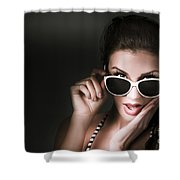Retro Woman In Early Twenties Expressing Shock Shower Curtain