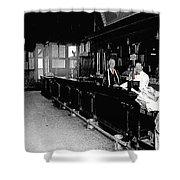Reverse Angle Interior Cabinet Saloon 68 W. Congress Tucson Arizona 1910 Shower Curtain