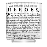 Revolutionary War Poster Shower Curtain