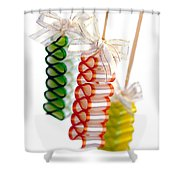 Ribbon Candy Shower Curtain