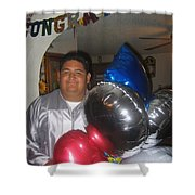 Ricardo Celebrating His High School Graduation Eloy Arizona 2002 Shower Curtain