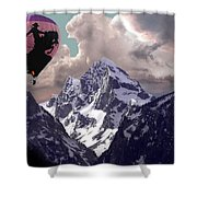 Riding The Tetons Shower Curtain