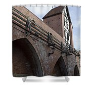 Riga Old City Walls Shower Curtain