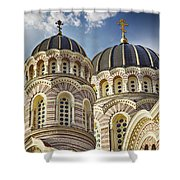 Riga Orthodox Cathedral Shower Curtain