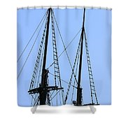 Rigging Shower Curtain