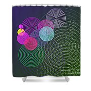 Ripple Effect Shower Curtain