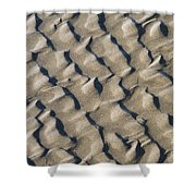 Ripple Pattern On Mudflat At Low Tide Shower Curtain