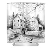 River Mill Shower Curtain