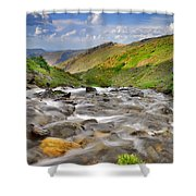 River San Juan  Shower Curtain by Guido Montanes Castillo