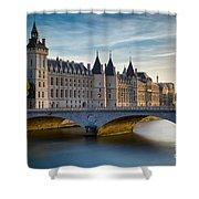 River Seine And Conciergerie Shower Curtain