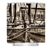 River Thames Sailing Barges Shower Curtain