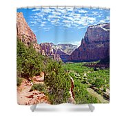 River Through Zion Shower Curtain