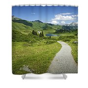 Road In The Mountains Shower Curtain