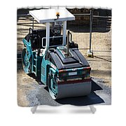 Road Roller Shower Curtain