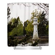 Roath Park Lighthouse Shower Curtain