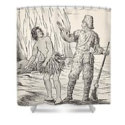 Robinson Crusoe And Friday Shower Curtain