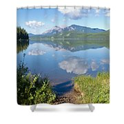 Rock Lake Alberta Canada And Willmore Wilderness Shower Curtain