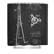 Rocket Patent Drawing From 1883 Shower Curtain