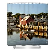 Rockport Harbor Shower Curtain