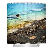 Rocks And Clear Water Abstract Shower Curtain