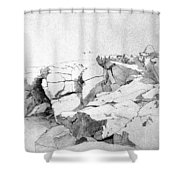 Rocks At Narragansett Shower Curtain