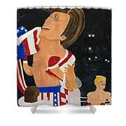 Rocky Balboa Shower Curtain by Don Larison