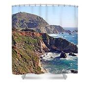 Rocky Creek Bridge Shower Curtain