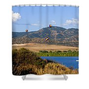 Rocky Mountain Balloon Festival Shower Curtain