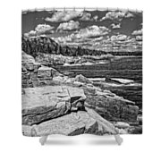 Rocky Summer Seascape Acadia National Park Photograph Shower Curtain
