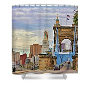 Roebling Bridge 9872 Shower Curtain