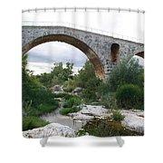 Roman Arch Bridge Pont St. Julien Shower Curtain