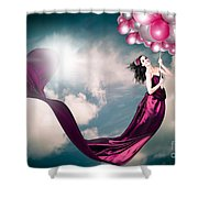 Romantic Girl In Love With Beauty And Fashion Shower Curtain