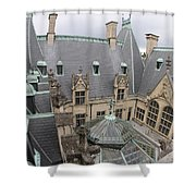 Roof Of Biltmore Estate Shower Curtain