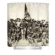 Roosevelt & Rough Riders Shower Curtain