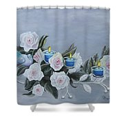 Roses And Candlelight Shower Curtain